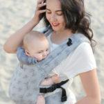 Фото: Эрго рюкзак Love & Carry DLIGHT из шарфовой ткани — Диаманты 1