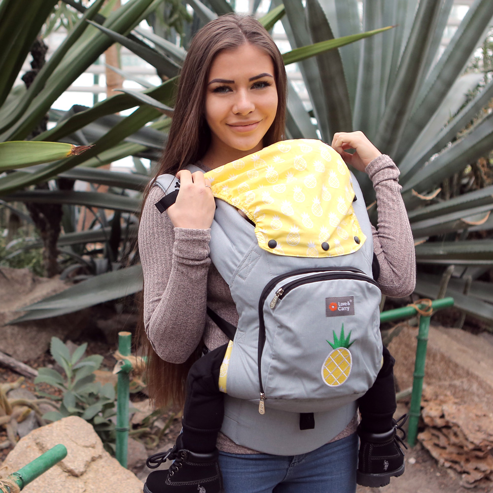 Фото: Эрго рюкзак Сладкий ананас с капюшоном