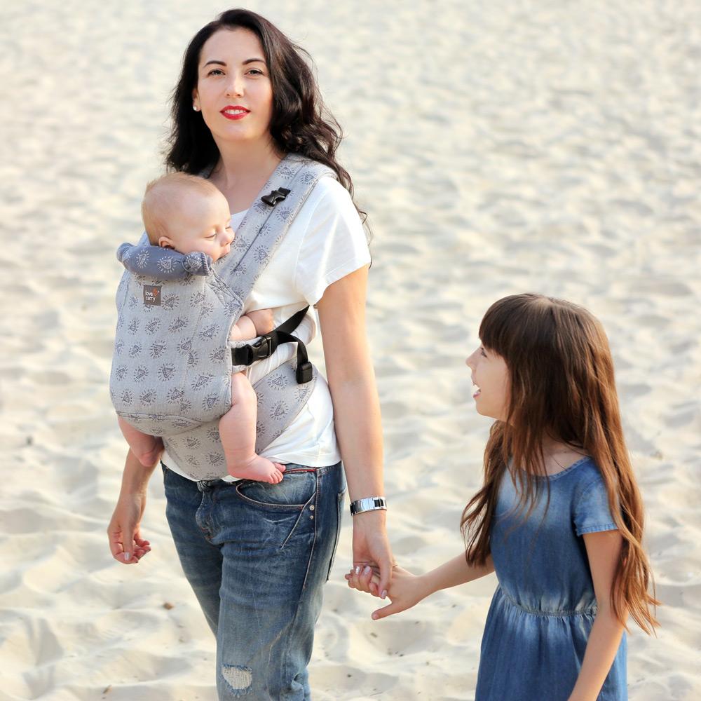 Фото: Эрго рюкзак Love & Carry DLIGHT из шарфовой ткани — Диаманты 2