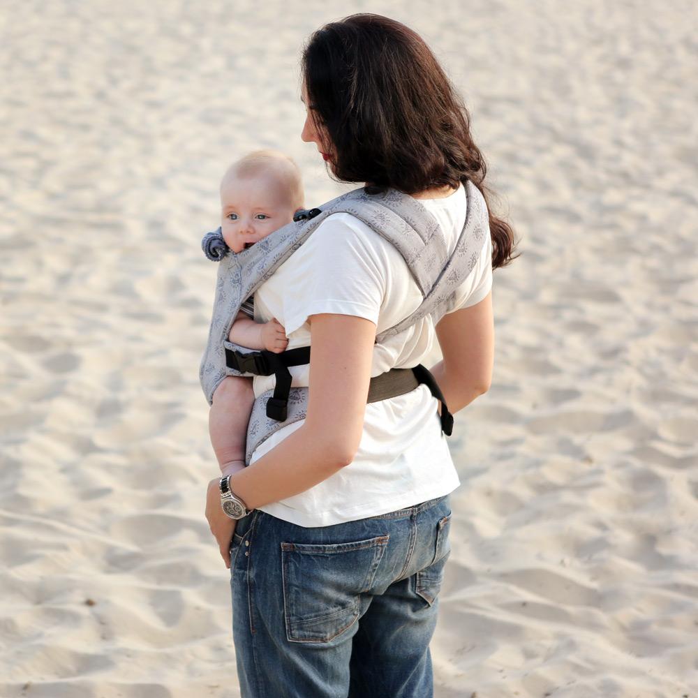 Фото: Эрго рюкзак Love & Carry DLIGHT из шарфовой ткани — Диаманты 3