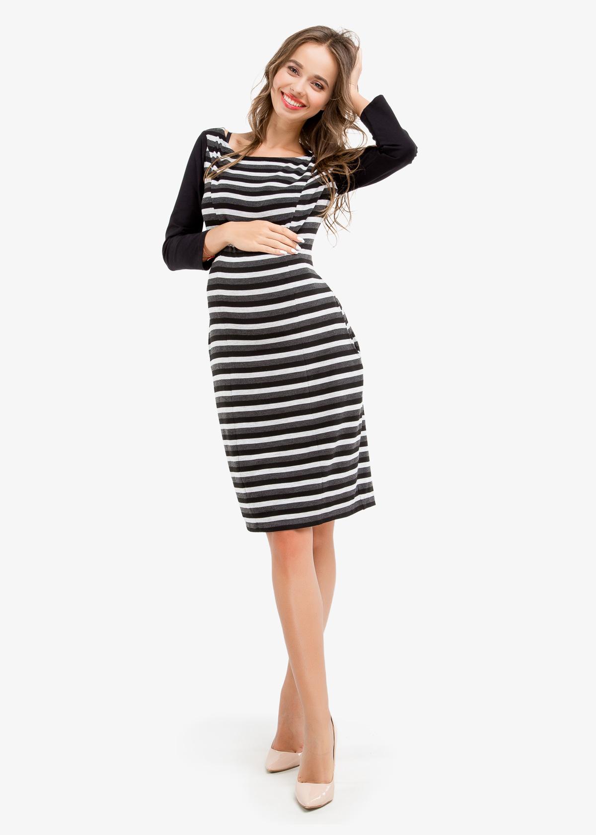 Фото: Прямое платье Stripe
