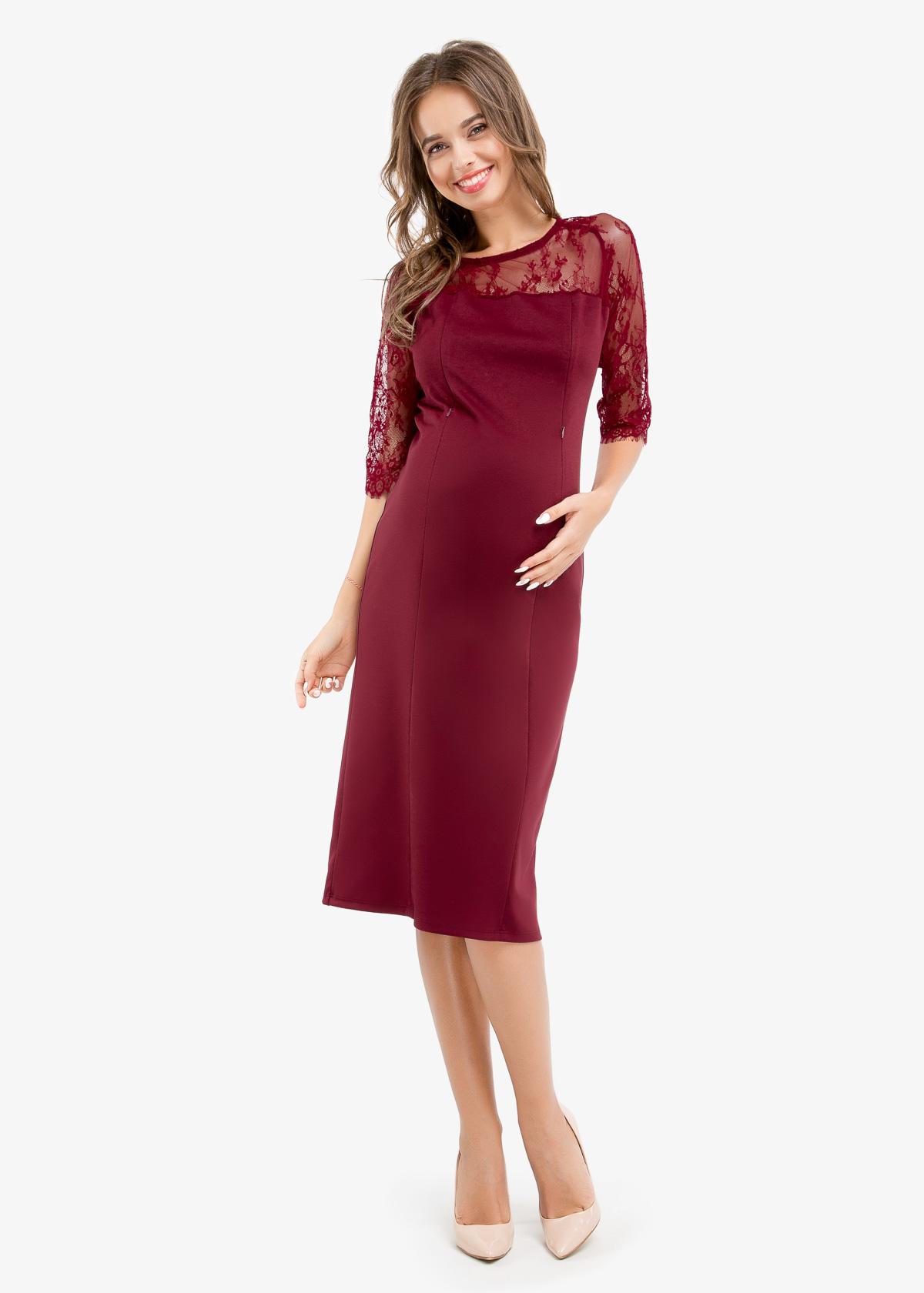 Фото: Бордовое прямое платье 1