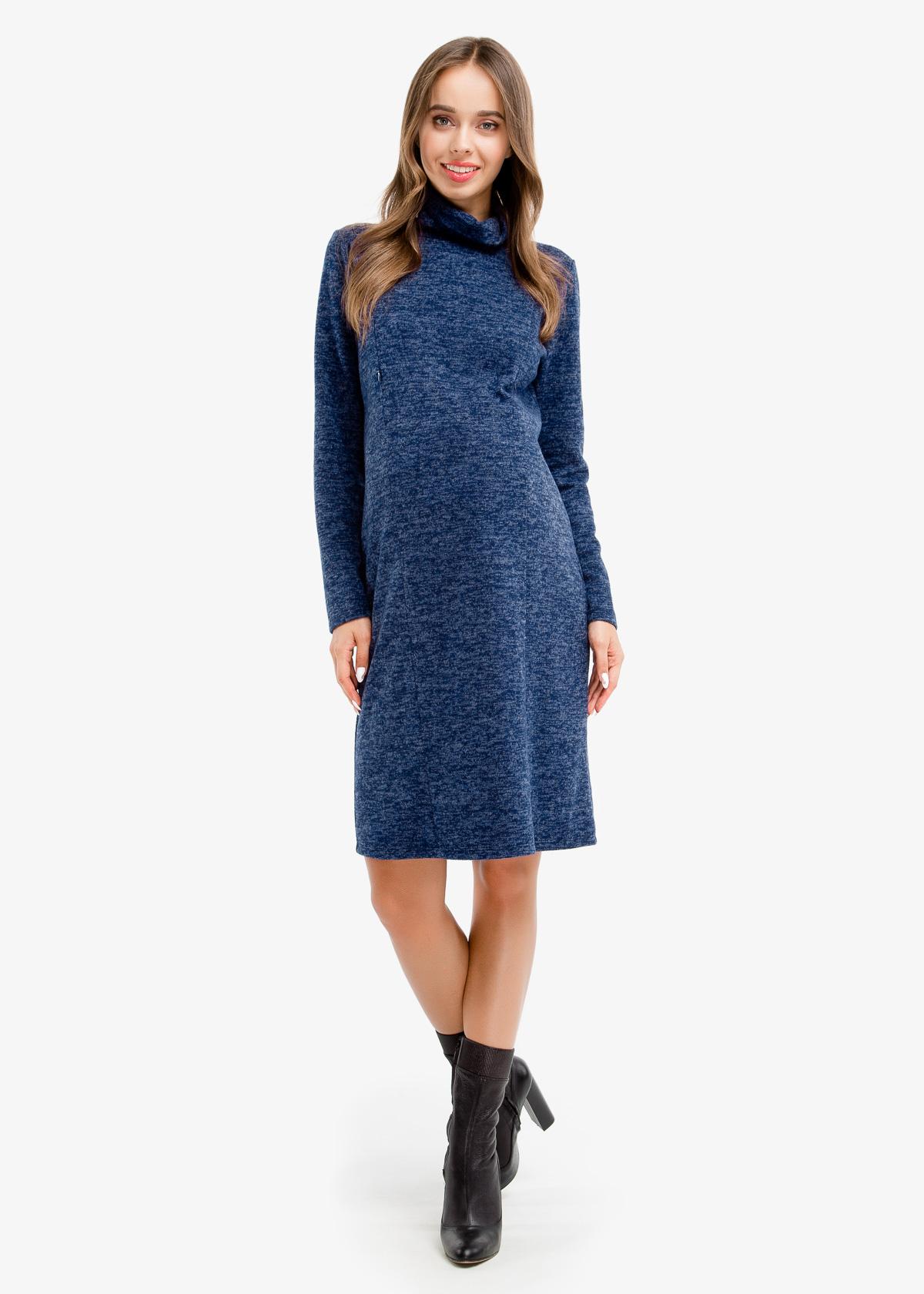 Фото: Прямое синие платье Sky для будущих мам