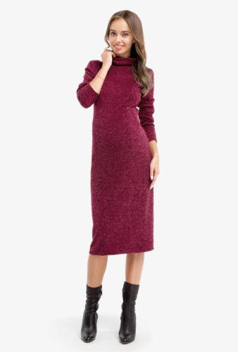 Фото: Прямое платье Marsala для будущих мам 1