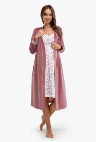 Фото: стильная одежда для беременных, Комплект в роддом для беременных, сорочка и халат