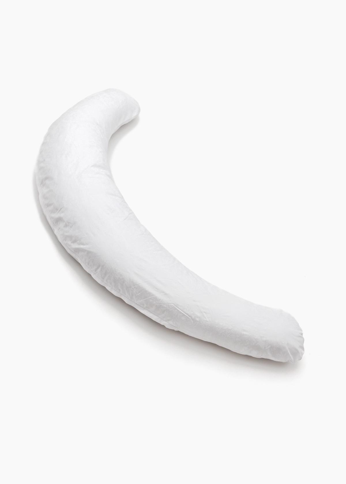 Фото: Подушка для беременных Creativemama, банан, атласные цветы на белом