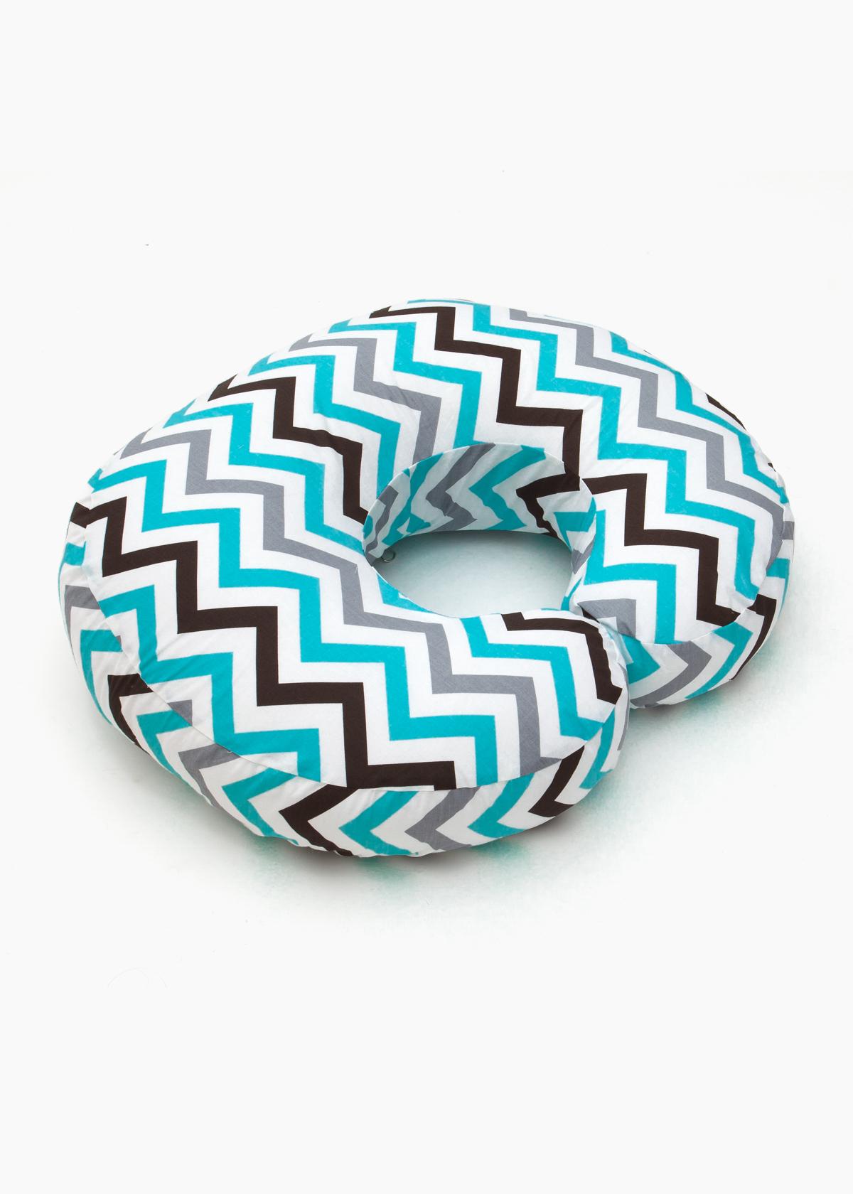 Подушка для кормящих Creativemama, бублик маленький, зигзаг