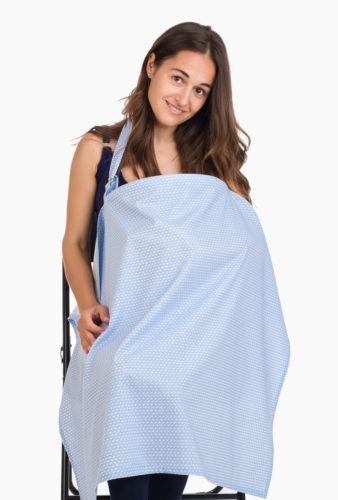 Фото: Накидка для кормления грудью листик голубой