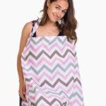 Фото: Накидка для кормления грудью ребенка зигзаг серо-розовый