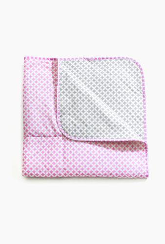 Фото: пледик одеялко для новорожденных CreativeMama, розово-серый