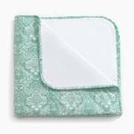 Фото: пледик одеялко для новорожденных CreativeMama, цветы на мяте
