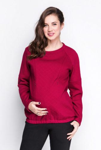 Свитшот marsala для беременных и кормящих мам