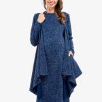 Фото: Синие платье Topazio для беременных и кормящих