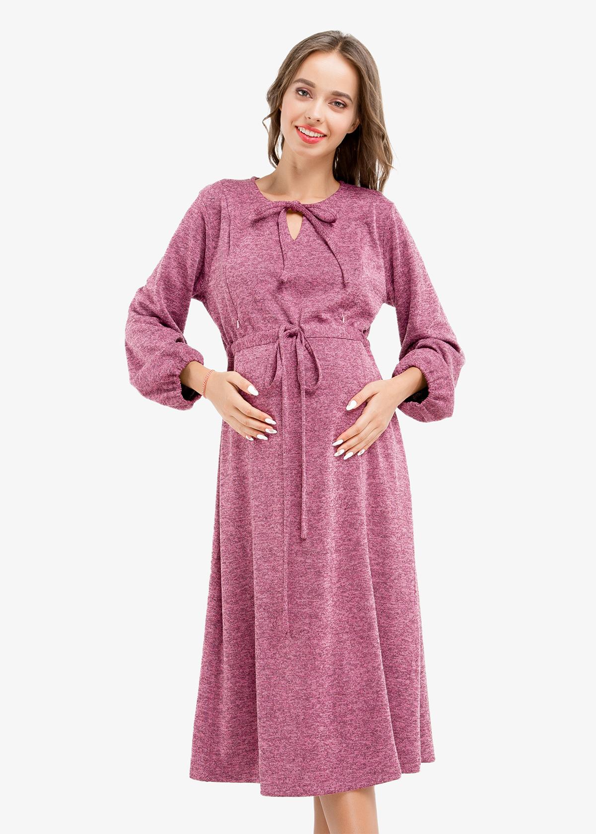 Фото: Красивое платье для беременных ниже колен 1