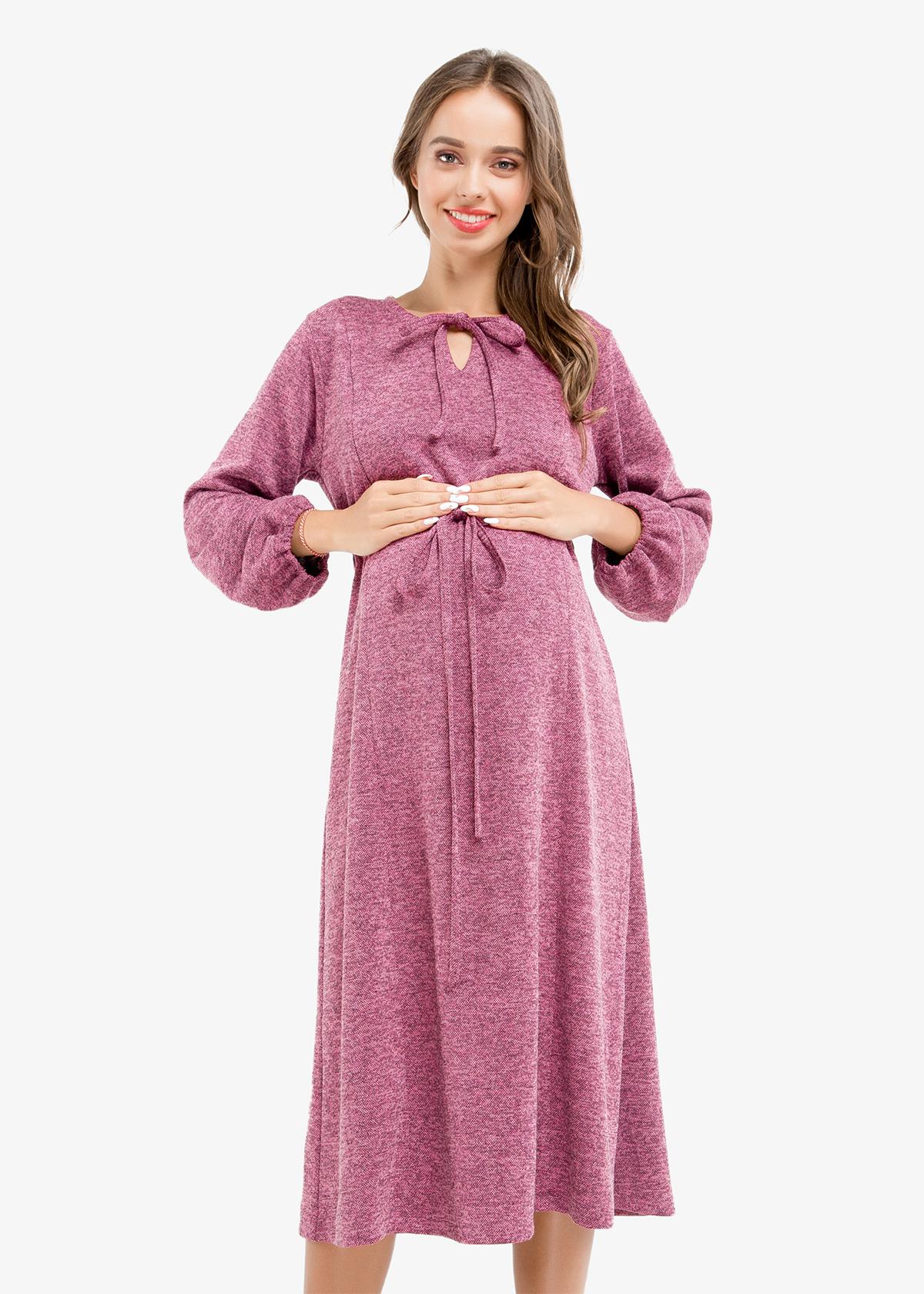 Фото: Красивое платье для беременных ниже колен