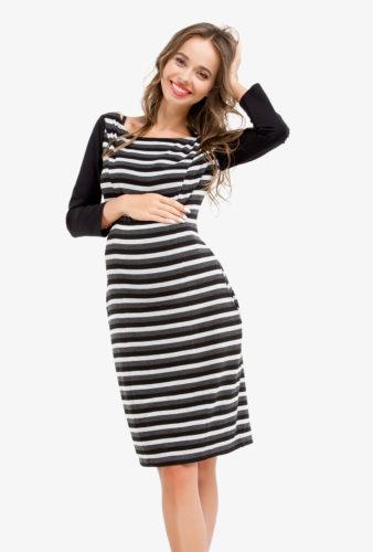 Фото: Прямое платье для беременных