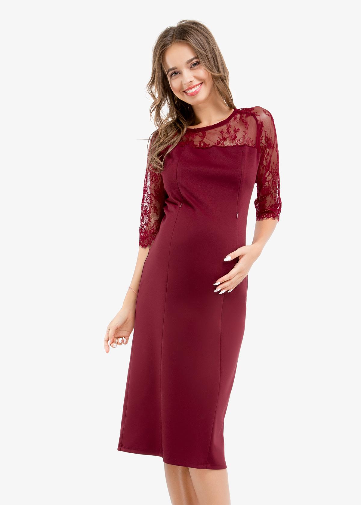 Фото: Прямое платье для беременных и кормящих мам 1