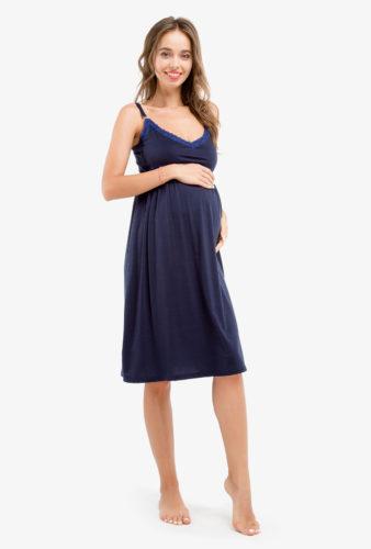 Фото: Синяя ночнушка для беременных Sapfire