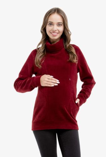 Фото: Теплый свитшот для беременных Bordo
