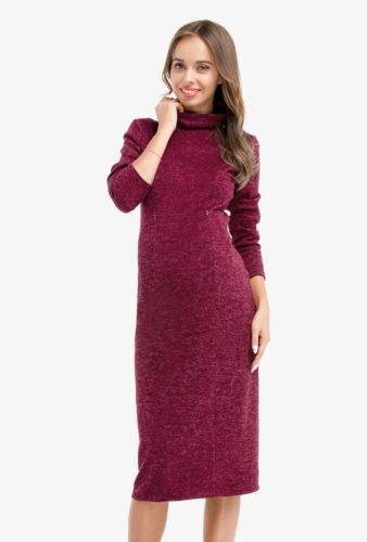 Фото: Платье туника Marsala для беременных 1