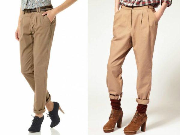 Фото: женские брюки чинос