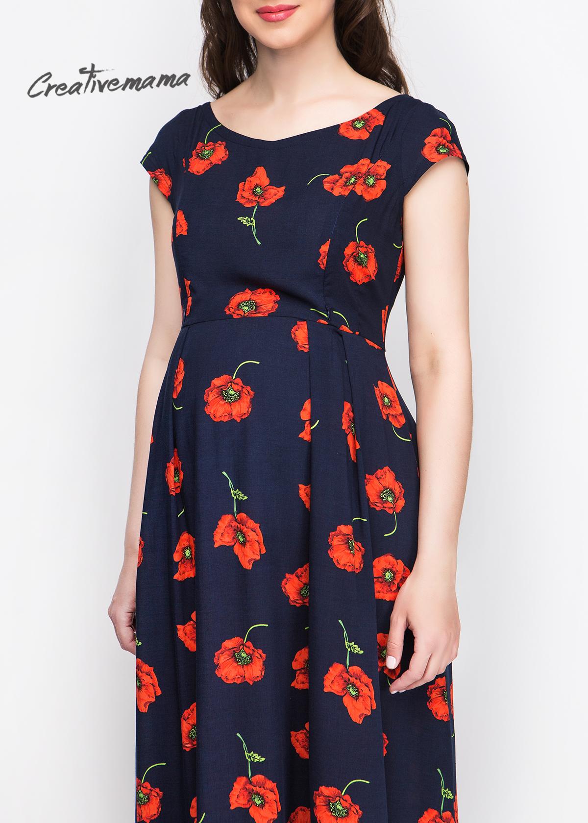 Платье -RED-FLOWERS-2