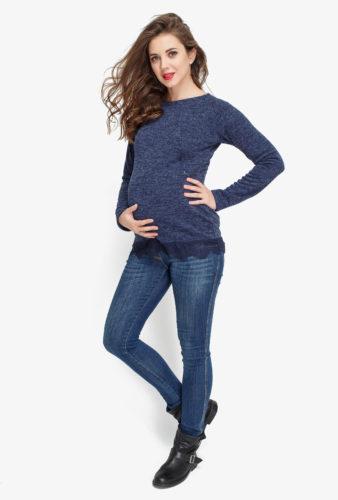 Фото: Свитшот с кружевом Charm's для беременных 1