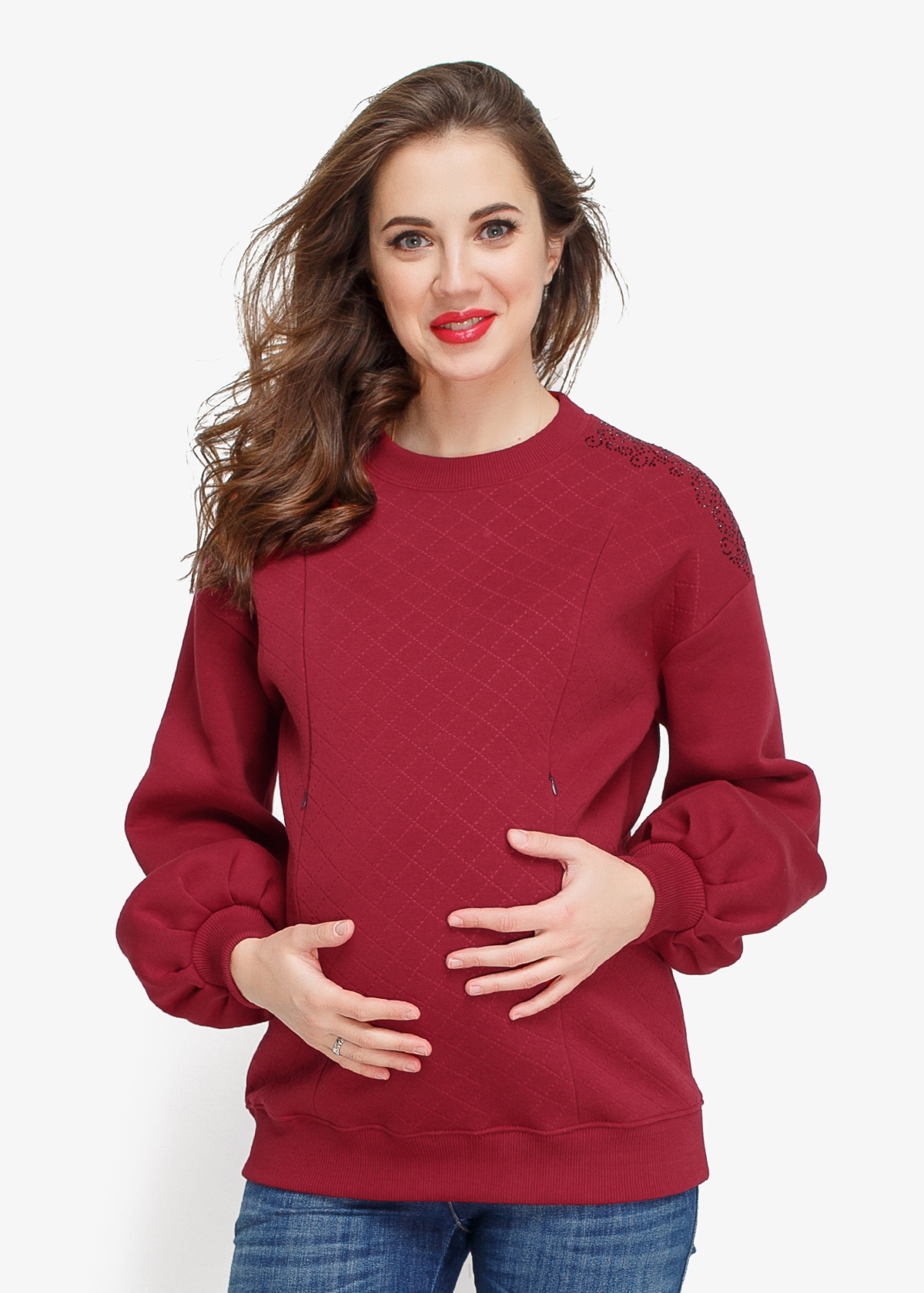 Фото: теплый свитшот BURGUND для беременных