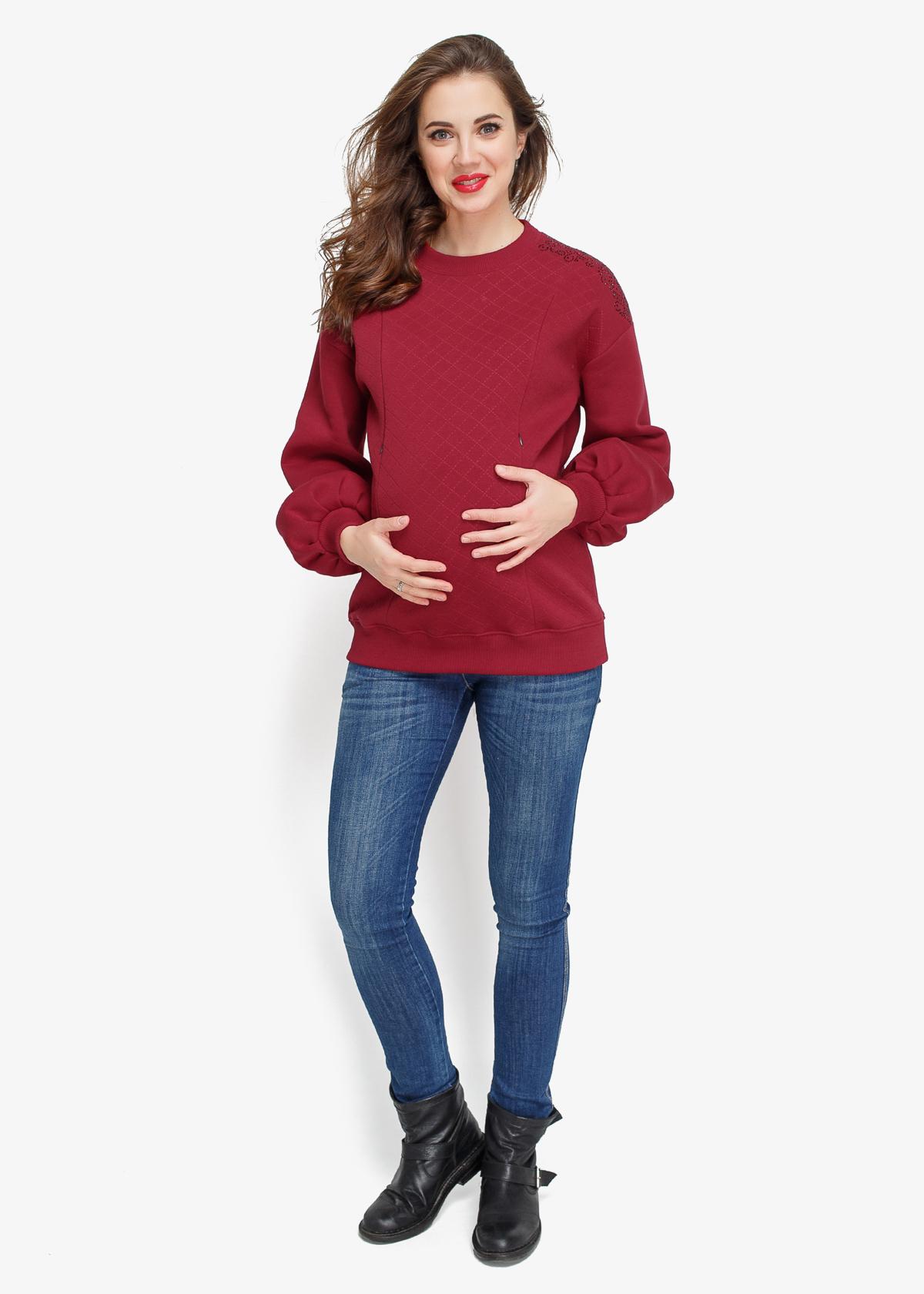 Фото: Теплый свитшот для беременных Burgund