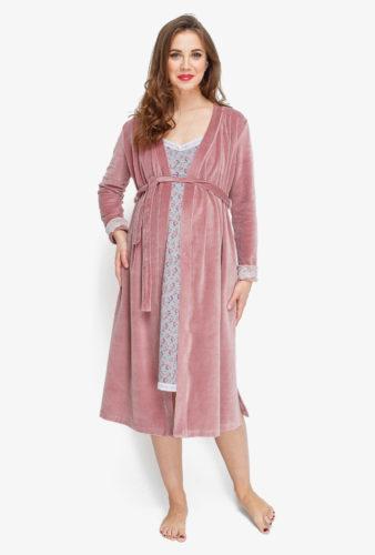 Фото: комплект в роддом - халат и сорочка 1
