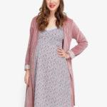 Фото: комплект халат и сорочка для беременных FLOWER 1