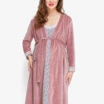 Фото: комплект халат и сорочка для беременных FLOWER