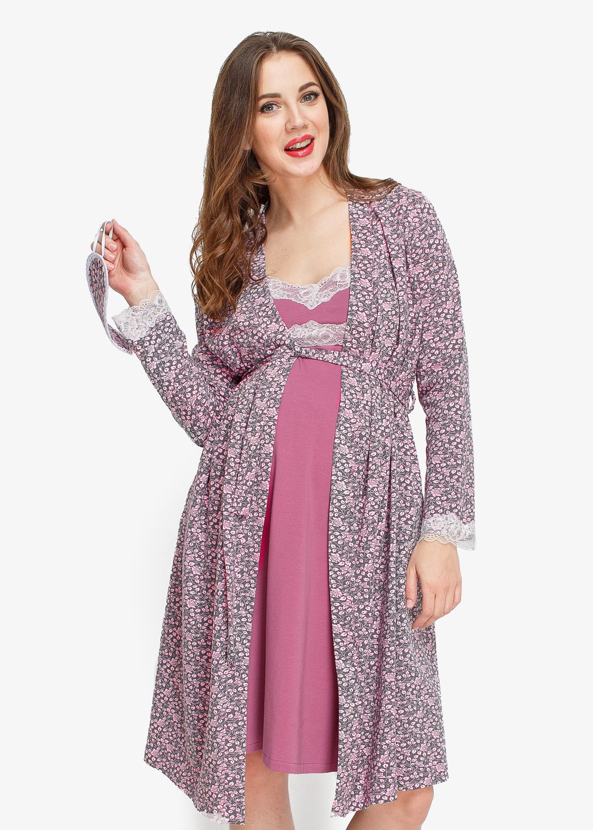 Фото: комплект халат и сорочка для беременных Lalique