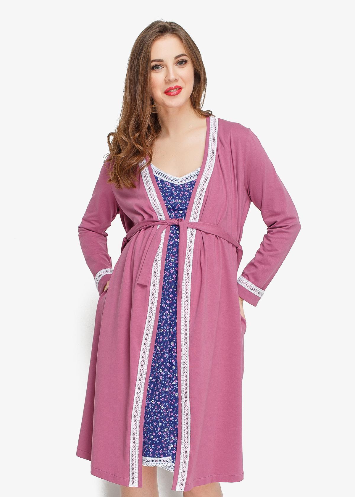 Фото: Комплект в роддом халат и сорочка Sleeper