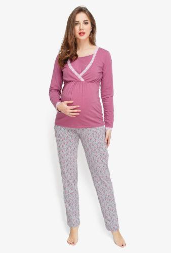 Фото: пижама для беременных и кормящих Flower