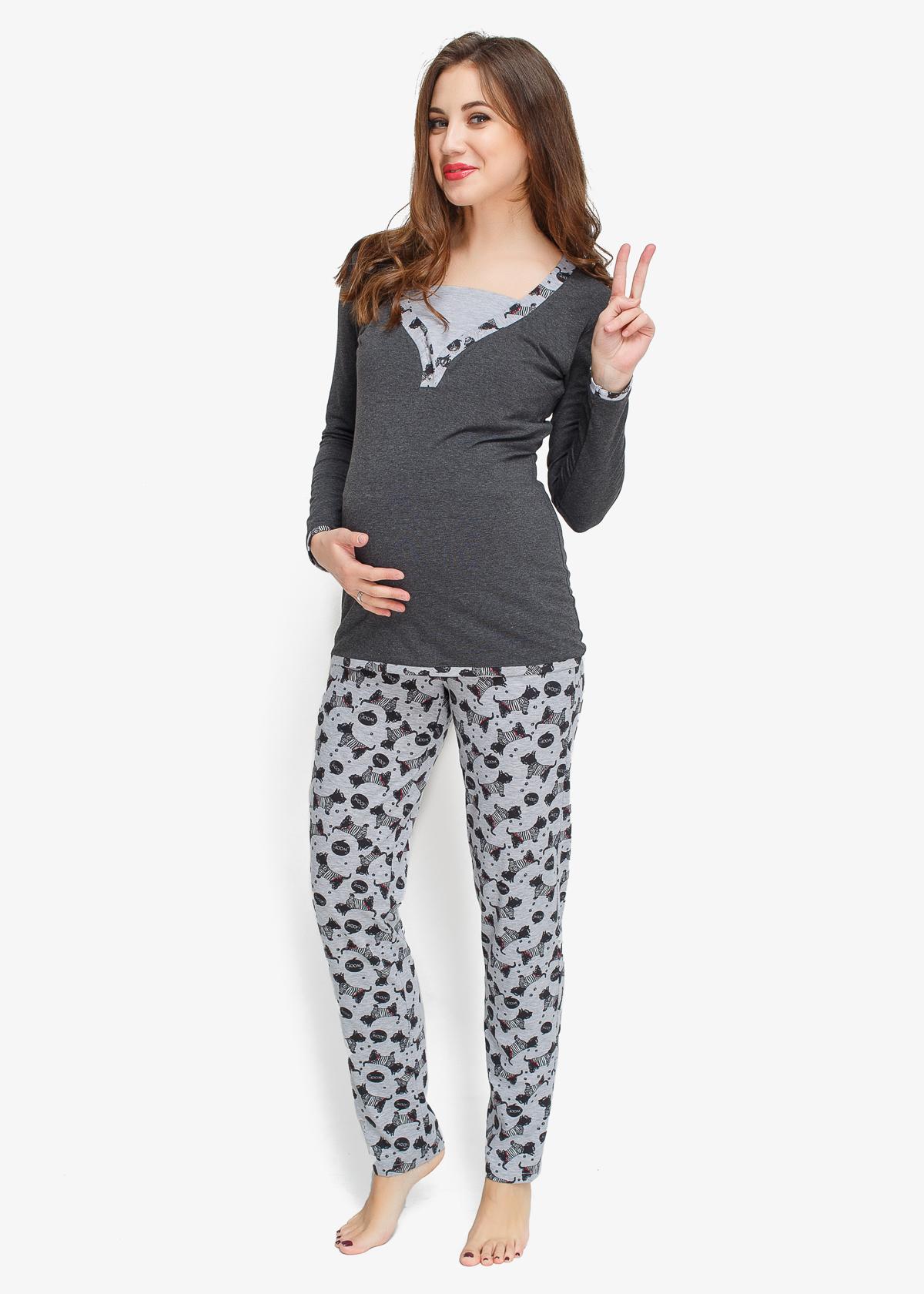 Фото: пижама для беременных и кормящих Happy Dogs