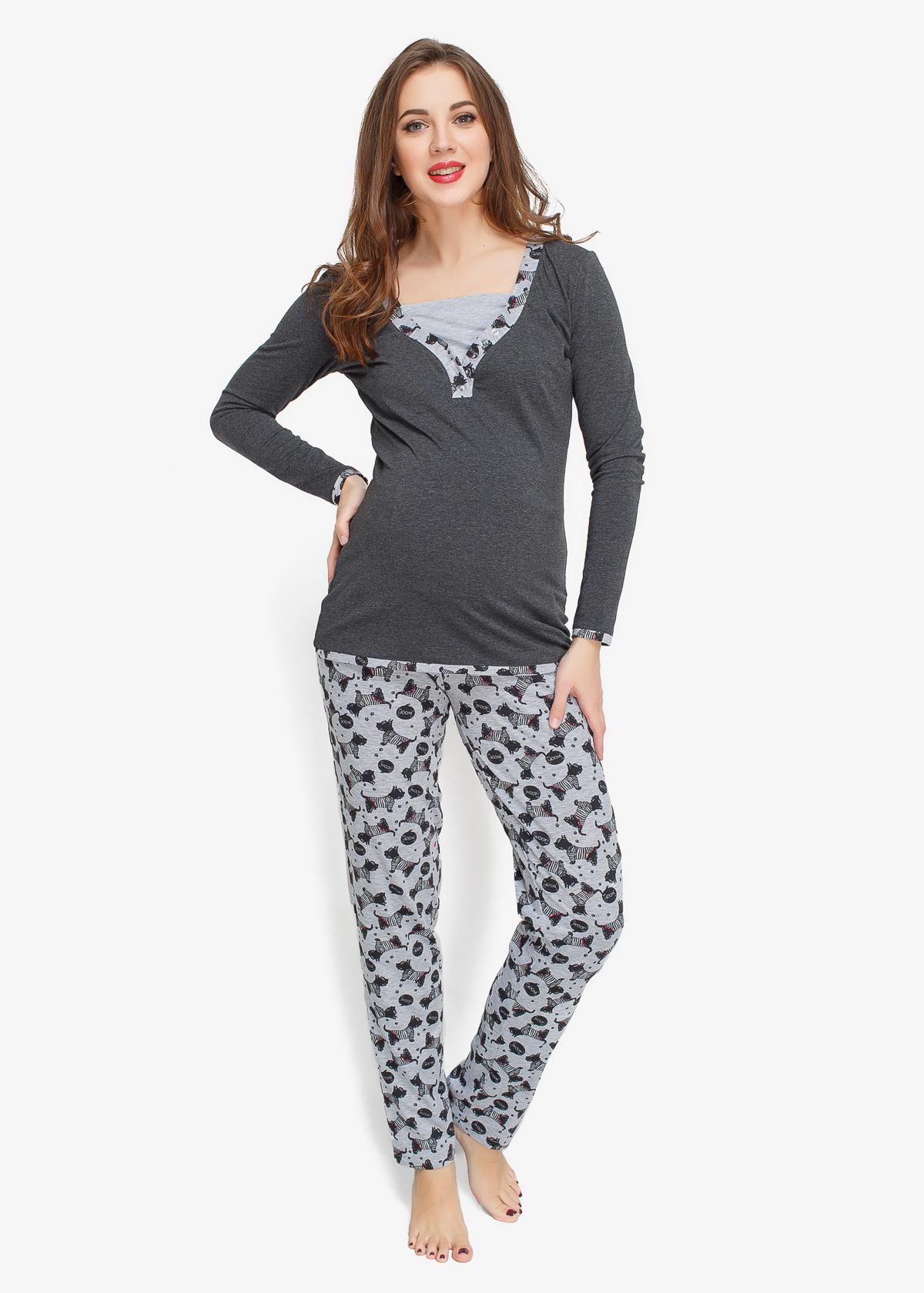 Фото: модная одежда, пижама для беременных и кормящих Happy Dogs