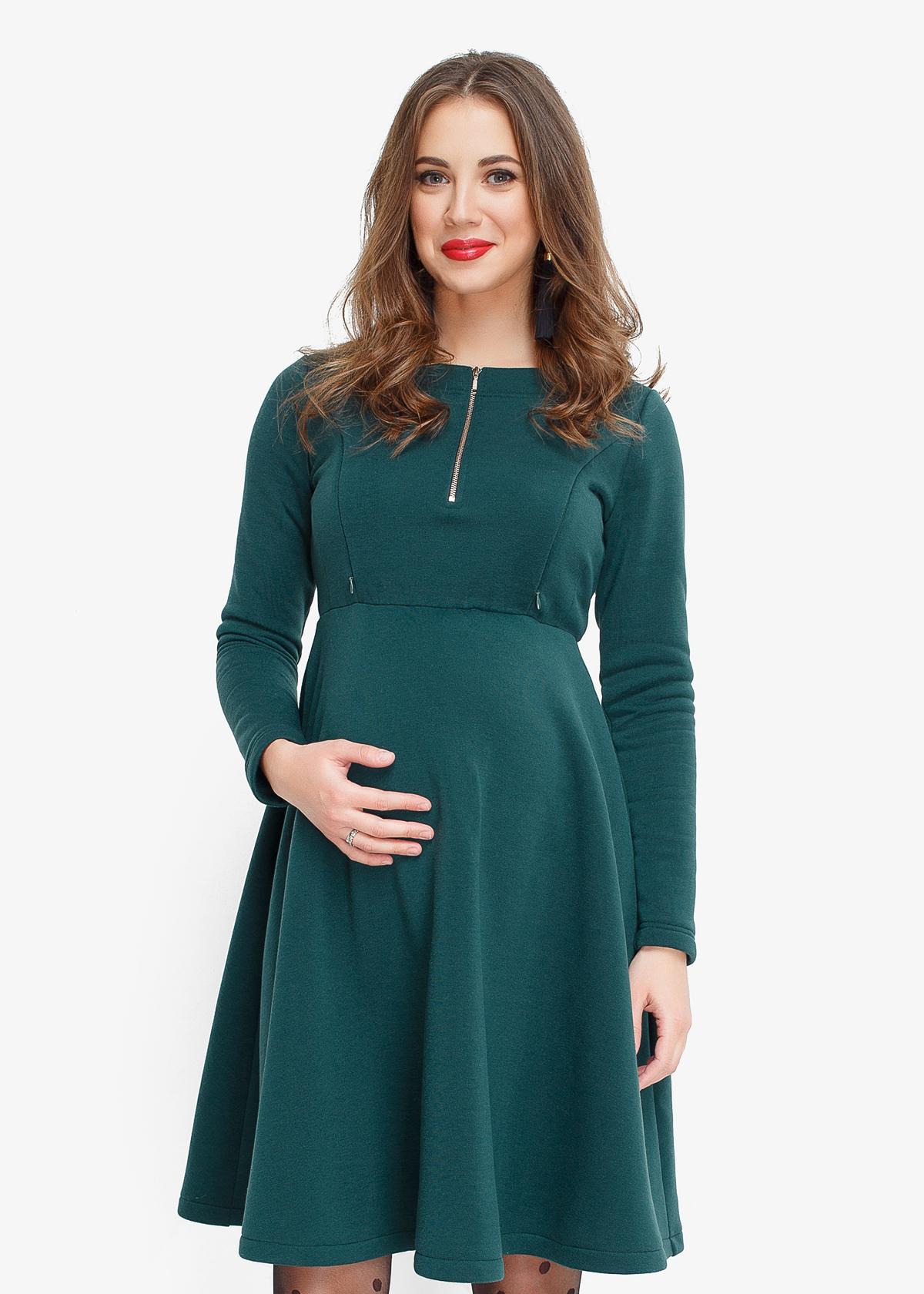 Фото: теплое платье Hvoya для беременных