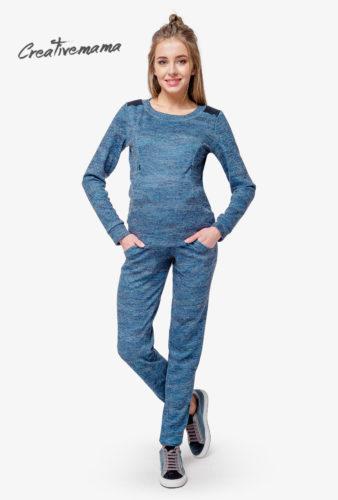 СВИТШОТ BLUE CHIK для беременных мам