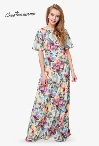 Платье в пол Serenity Limided Edition цветы 2