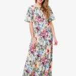 Платье в пол Serenity Limided Edition цветы
