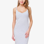 ПЛАТЬЕ ТОП BODYCON GREY (ХЛОПОК) фото 2