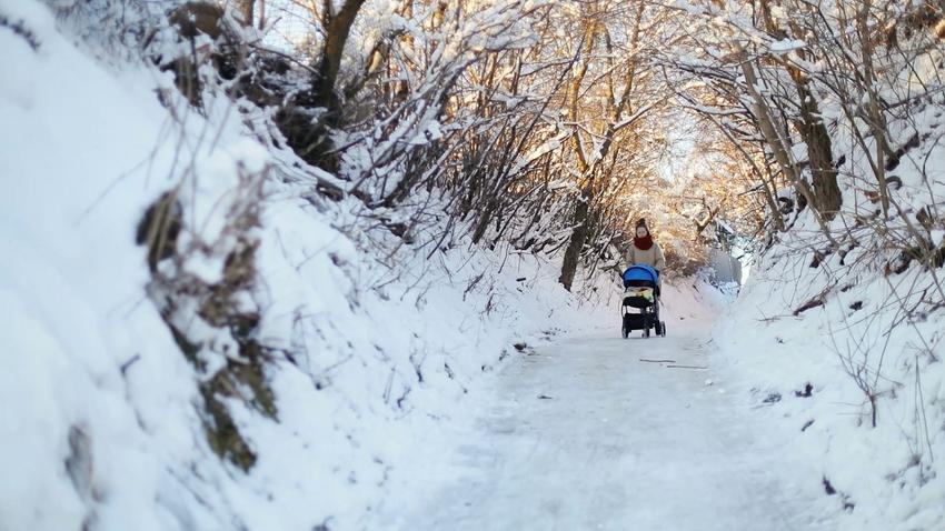 прогулка с малышом зимой