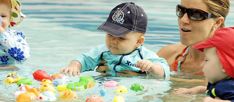 игры на осязание в воде с ребенком