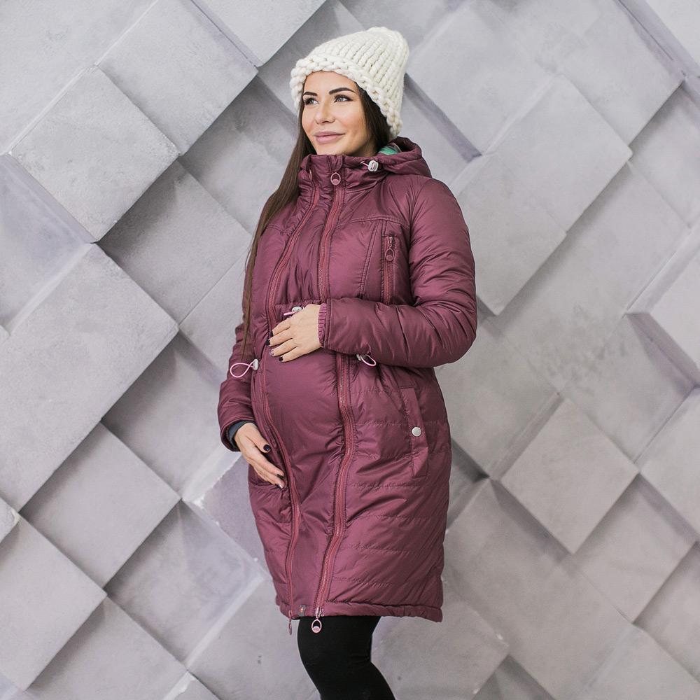 Пуховик со вставкой для беременных